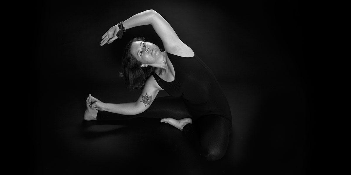 Lisa Practicing Yoga